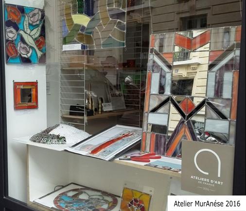 Article exposition vitrail atelier MurAnése Emma Isingrini Groult