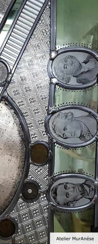 Atelier MurAnése Emma Isingrini Groult vitrail création vitraux
