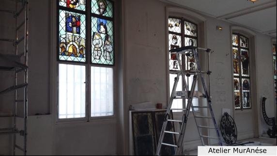 Groult Isingrini Vitrail Restauration vitraux Musée Muranése