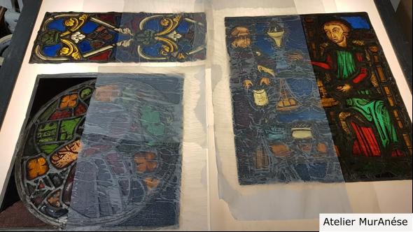 Groult Isingrini Vitrail Restauration vitraux nettoyage Muranése