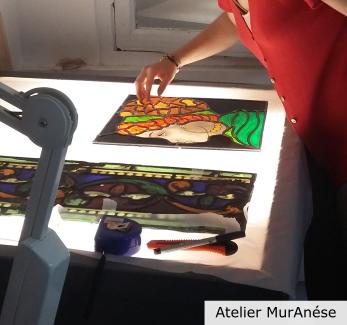 Groult Isingrini vitraux vitrail cours